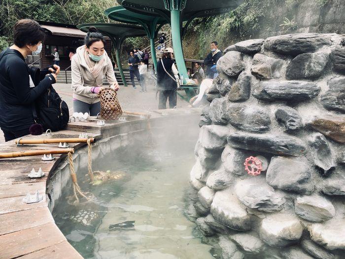 太平山一個人 鳩之澤溫泉煮蛋區